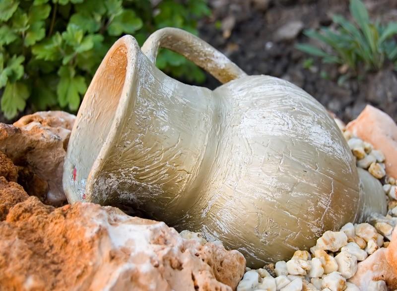 Stenen kruiken voor buiten excellent oud stenen kruikje for Tuinposters intratuin